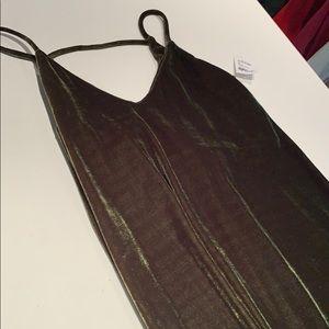 Velvet spaghetti strap dress. BRAND NEW